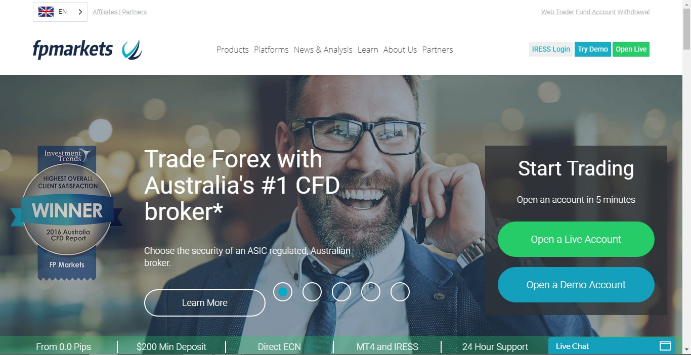 Fp markets forex review