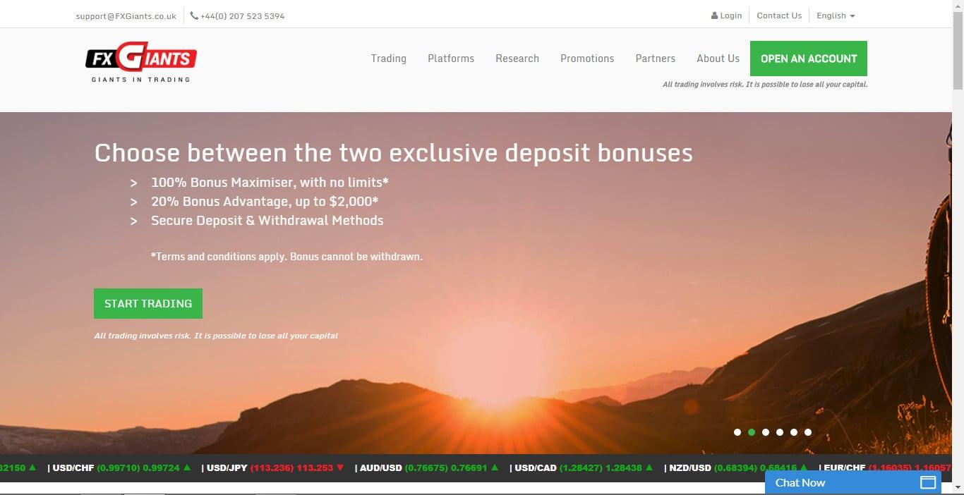 FXGiants Website